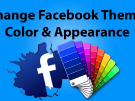 How To Change Facebook Theme