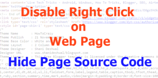 How To Disable Right Click on Web Page or Hide Page Source Code