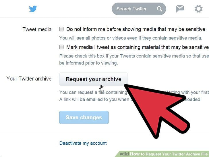 Request your archive of Tweets